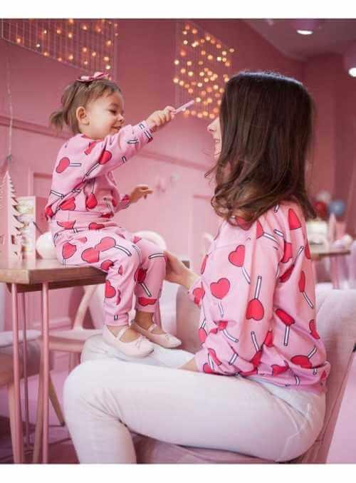 SRDIEČKOVÉ LÍZANKY – detské tepláky- 6-12 mes