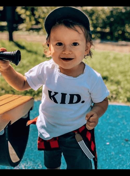KID. – dětské tričko, bílé