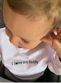 I LOVE DADDY- children's sweatshirt, white
