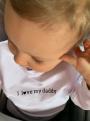 I LOVE DADDY– detská mikina, biela- 0-3 mes