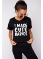 "Dámske tričko ""I make cute babies"" - XS"