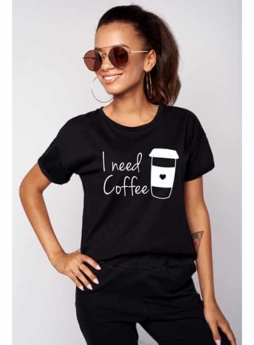 """Dámské tričko """"I need coffee"""""""