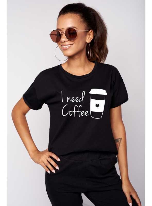 """Dámske tričko """"I need coffee"""""""