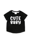 Cute baby – detské tričko, čierne- 0-3mes