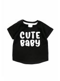 Cute baby – detské tričko, čierne