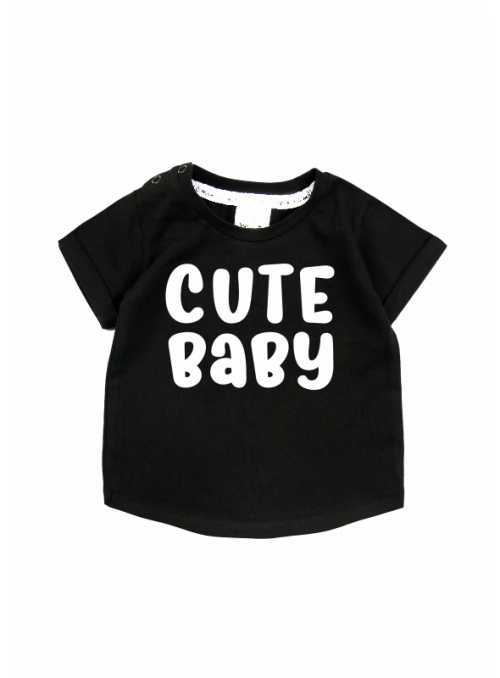 Cute baby – children's t-shirt, black
