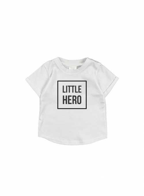 LITTLE HERO – detské tričko, šedé
