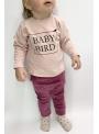 BABY BIRD – detská mikina, ružová