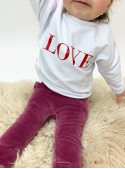 "White children's sweatshirt ""RED LOVE"""
