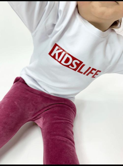 KIDS LIFE – dětská mikina, bílá