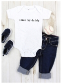 "detské body s krátkym rukávom ""I love my daddy"""