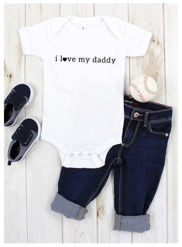 """detské body s krátkym rukávom """"I love daddy"""" - 0-3 mes"""