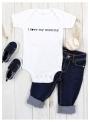 """detské body s krátkym rukávom """"I love my mommy"""""""