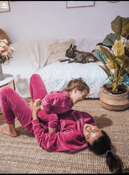 Fialové detské tepláčky