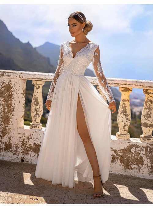 "Maxi dress ""Adelka"", white"