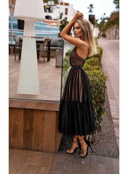 "Midi šaty ""Klara"", čierne"
