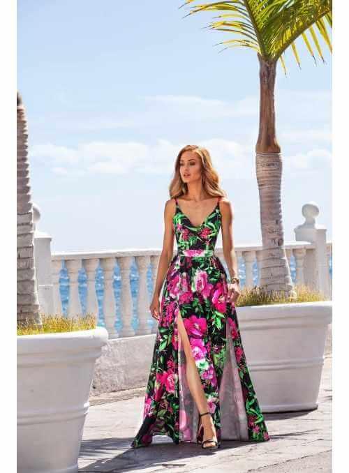 "Maxi šaty ""SWEET DREAMS"", pivonkové"