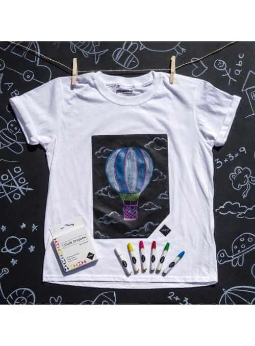 Detské zábavné tričko s tabuľou + kriedy, 3-4 roky