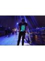 Zábavné iluminačné tričko + laser pero, S