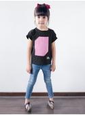 Dětské zábavní iluminační tričko, růžové + laser pero