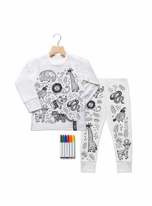 """""""Moja džungľa - detské pyžamo na vyfarbovanie"""""""