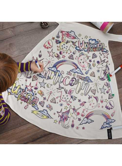 "Fairy-tale cape ""unicorn"" - cape for colorig ""- 2-10 years"