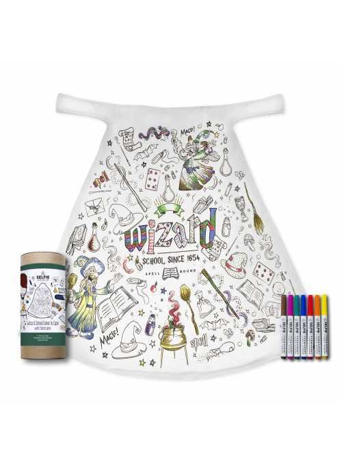 "Fairy-tale cape ""School of wizards"" - cape for colorig ""- 2-10 years"