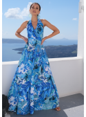 """Maxi Dress """"Blue rainforest"""""""