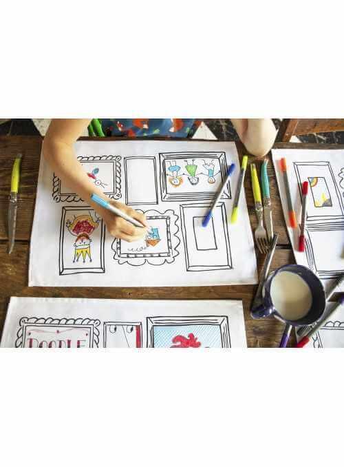 Obrazy - interaktívne prestieranie /set 4/ na vyfarbovanie, vyfarbuj a uč sa