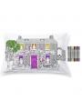 Domček pre bábiky - interaktívna obliečka na vankúš 75x50cm, vyfarbuj a uč sa