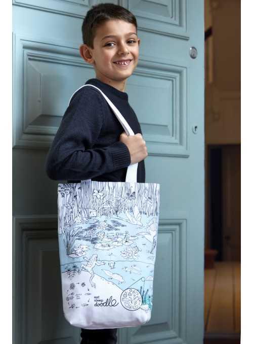 Život v rybníce - velká taška na rameno – vybarvuj a uč se
