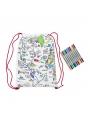 Mapa sveta - batôžtek na vyfarbovanie - vyfarbuj a uč sa