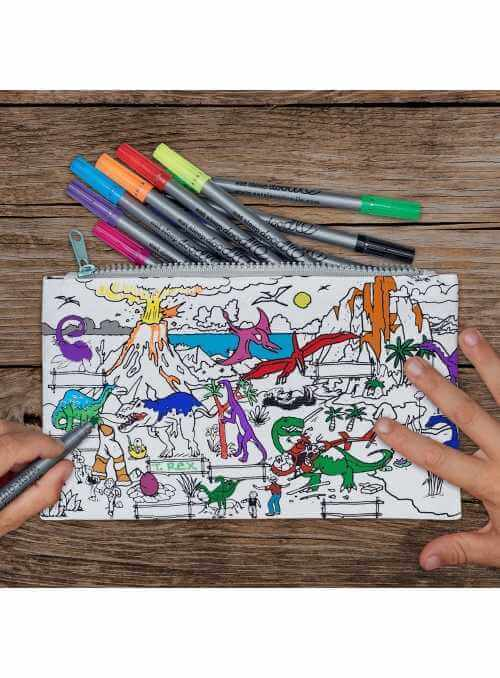 Môj dinosaurí svet - interaktívny peračník na vyfarbovanie - vyfarbuj a uč sa