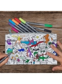 My Dinosaur World - an interactive coloring pencilcase - color and learn