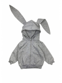 Gray children's sweatshirt bunny