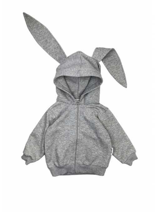 Gray children's sweatshirt bunny