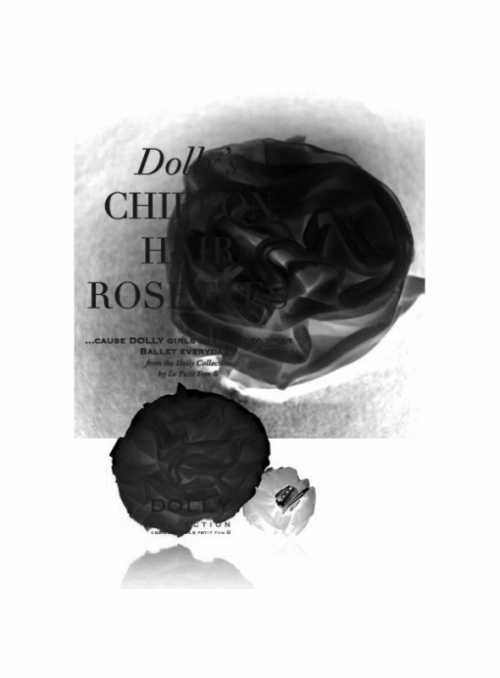 Šifónová růžička černá