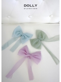 Chiffon bow sea green