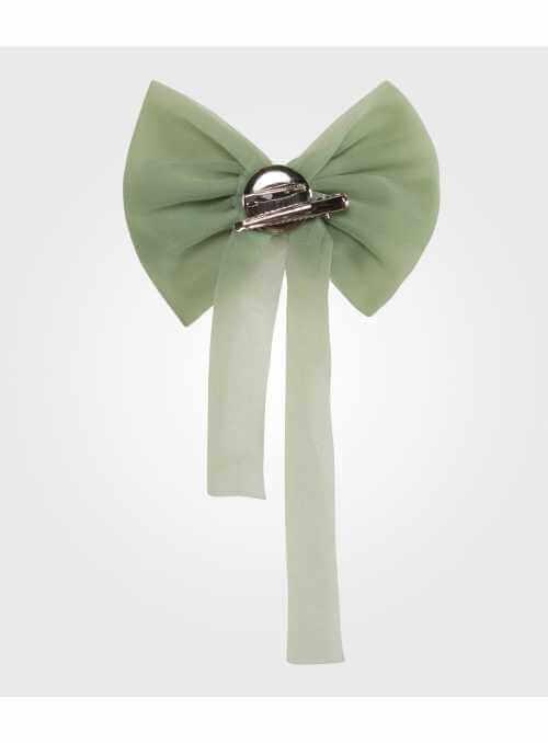 šifónová mašľa morsky zelená