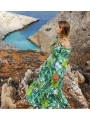 "Šaty ""GREEN JUNGLE""- vzorované dámské maxi šaty"