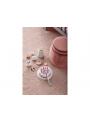 Detská ružová drevená torta so sviečkami - Bistro