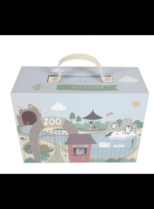 Moja ZOO v kufríku, drevená hračka