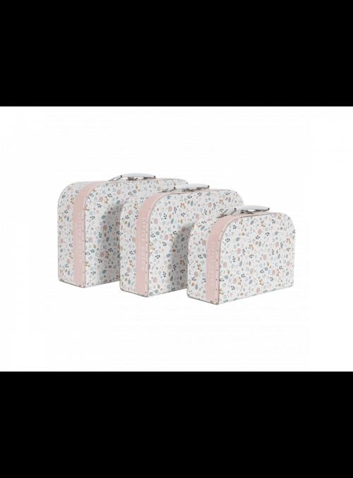 Set 3 detských kufríkov Jarná lúka