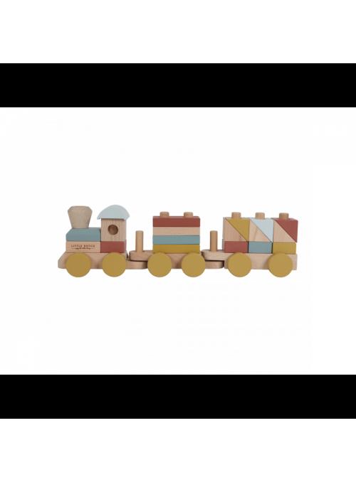Detská skladačka drevený vláčik, kolekcia Pure&Nature
