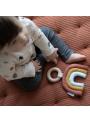 Dúha na drevenom krúžku, hryzátko hračka pre bábätko - kolekcia Pure&Nature