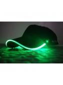 Iluminačná šiltovka so zeleným svetlom