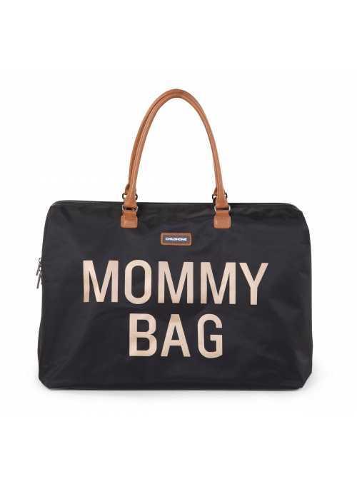 Velká přebalovací taška MOMMY BAG, černo-zlatá