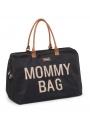 Veľká prebaľovacia taška MOMMY BAG, čierno-zlatá