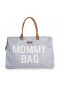 Veľká prebaľovacia taška MOMMY BAG, šedo-biela