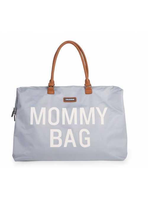 Velká přebalovací taška MOMMY BAG, šedo-bílá